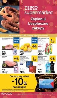 Bezpieczne zakupy w Tesco Supermarket