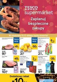 Gazetka promocyjna Tesco Supermarket - Bezpieczne zakupy w Tesco Supermarket - ważna do 16-12-2020