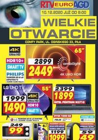 Gazetka promocyjna RTV EURO AGD - RTV EURO AGD - Wielkie otwarcie Piła - ważna do 10-12-2020