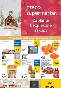Gazetka promocyjna Tesco Supermarket - Świąteczne zakupy w Tesco Supermarket - ważna do 24-12-2020