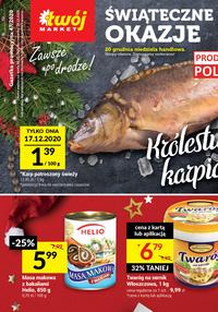 Gazetka promocyjna Twój Market - Promocje na karpia w sklepie Twój Market - ważna do 24-12-2020