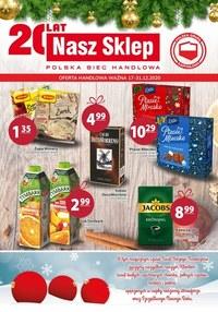 Gazetka promocyjna Nasz Sklep - Promocje w sklepie Nasz Sklep - ważna do 31-12-2020