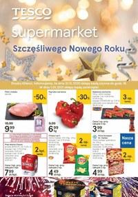 Gazetka promocyjna Tesco Supermarket - Szczęśliwego Nowego Roku życzy Tesco - ważna do 05-01-2021