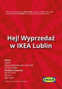 Gazetka promocyjna IKEA - Wyprzedaż w IKEA Lublin! - ważna do 17-01-2021
