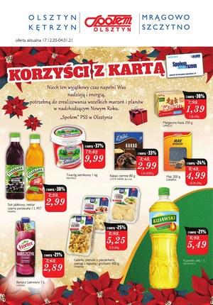 Gazetka promocyjna Społem Olsztyn - Korzyści w Społem Olsztyn!
