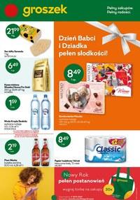 Gazetka promocyjna Groszek  - Dzień Babci i Dziadka w sklepach Groszek! - ważna do 19-01-2021