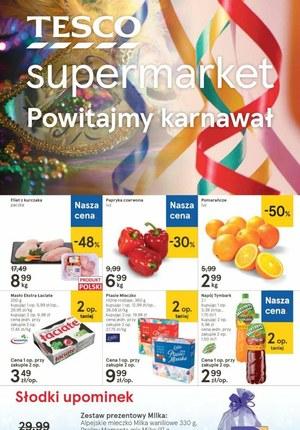 Gazetka promocyjna Tesco Supermarket - Powitamy karnawał z Tesco Supermarket