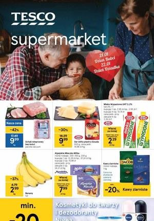 Gazetka promocyjna Tesco Supermarket - Okazje na dzień babci i dziadka w Tesco Supermarket