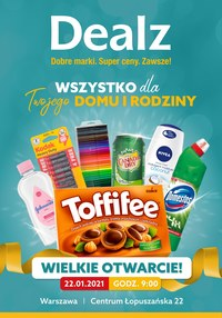 Gazetka promocyjna Dealz - Wielkie Otwarcie - Warszawa Dealz