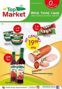 Gazetka promocyjna Top Market - Bliżej i taniej z Top Market! - ważna do 10-02-2021