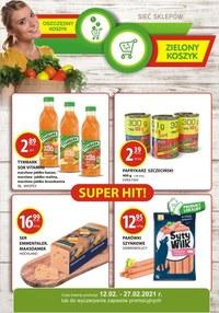 Gazetka promocyjna Zielony Koszyk - Oszczędne zakupy w sklepie Zielony Koszyk! - ważna do 27-02-2021
