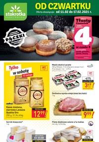 Gazetka promocyjna Stokrotka Supermarket - Promocja na pączki w Stokrotce! - ważna do 17-02-2021