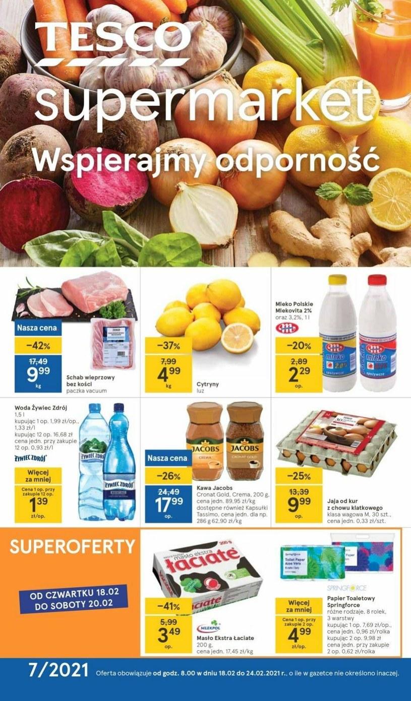 Gazetka promocyjna Tesco Supermarket - wygasła 3 dni temu
