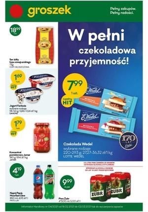 Gazetka promocyjna Groszek  - Czekoladowa przyjemność w sklepach