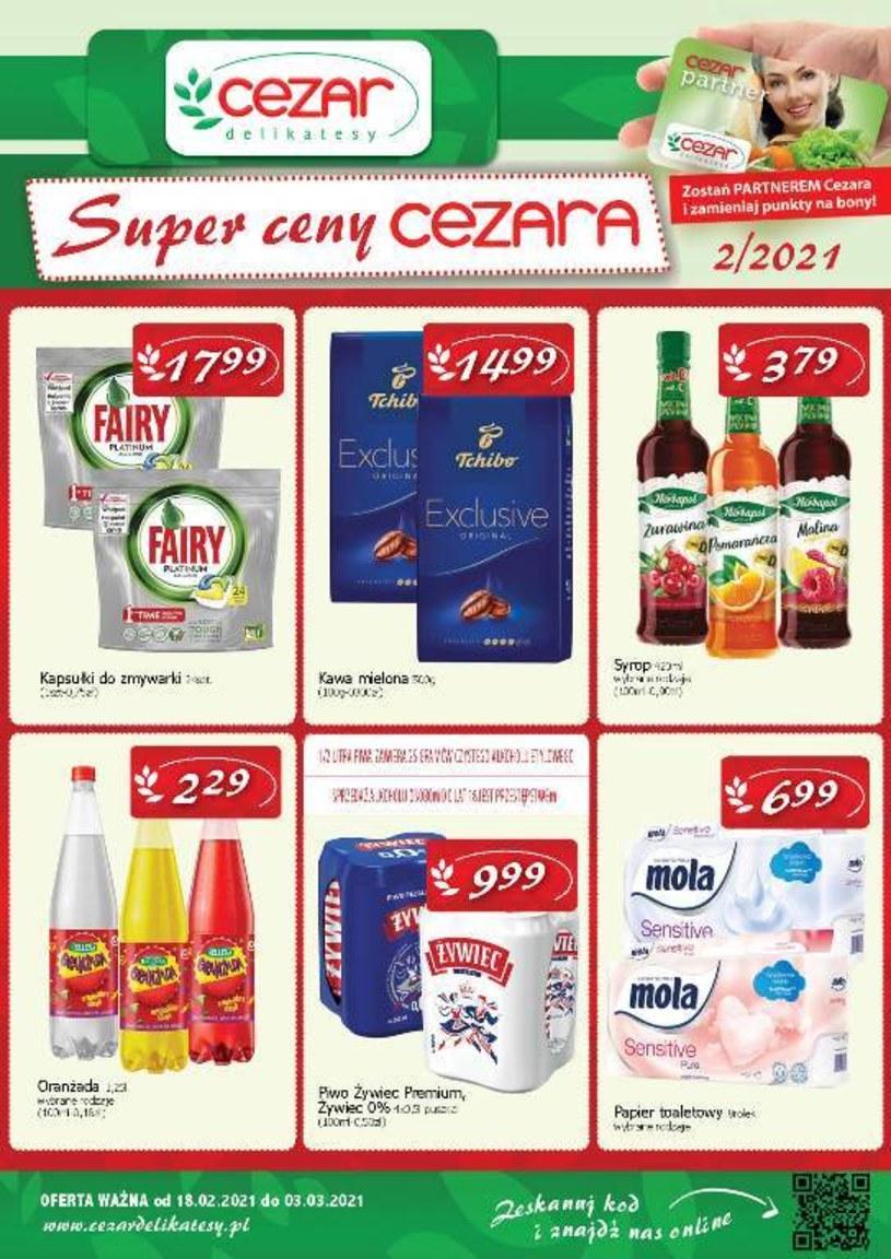 Gazetka promocyjna Delikatesy CEZAR - ważna od 18. 02. 2021 do 03. 03. 2021