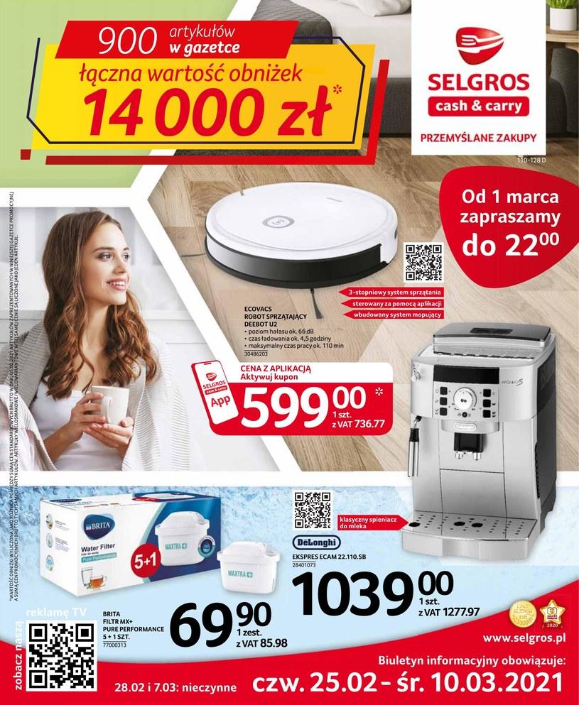 Gazetka promocyjna Selgros Cash&Carry - ważna od 25. 02. 2021 do 10. 03. 2021