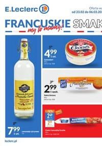Gazetka promocyjna E.Leclerc - E.Leclerc Francuskie smaki - oferta dla wybranych sklepów  - ważna do 02-03-2021