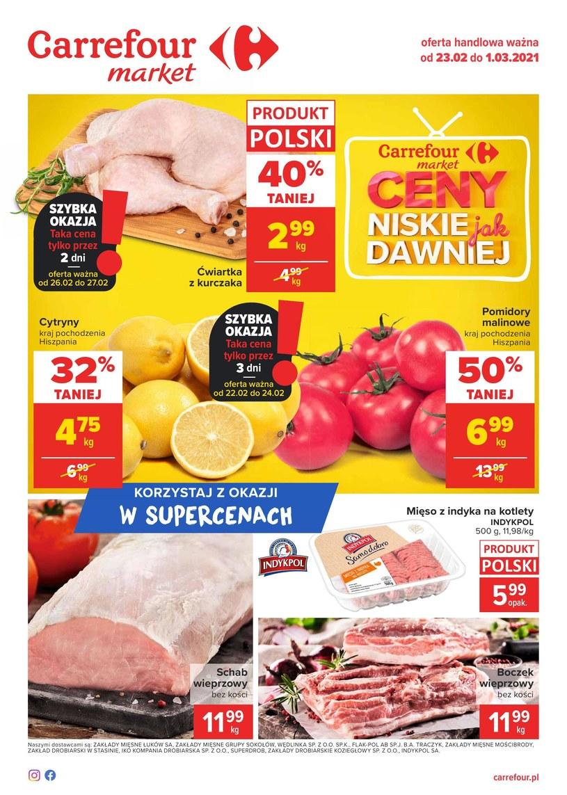 Gazetka promocyjna Carrefour Market - ważna od 23. 02. 2021 do 01. 03. 2021