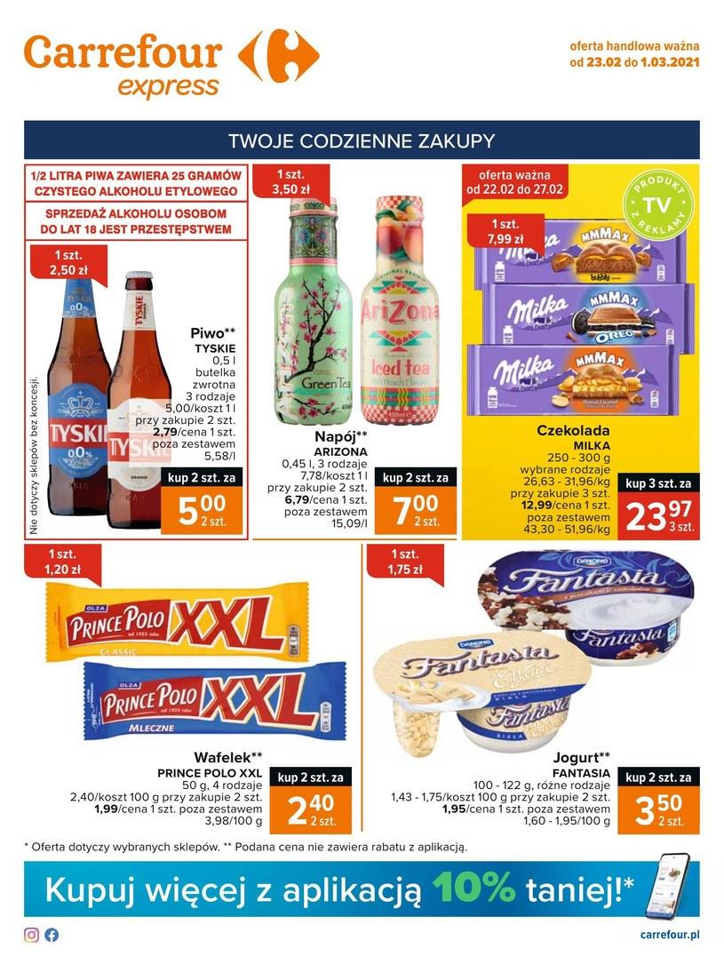 Gazetka promocyjna Carrefour Express - wygasła 2 dni temu