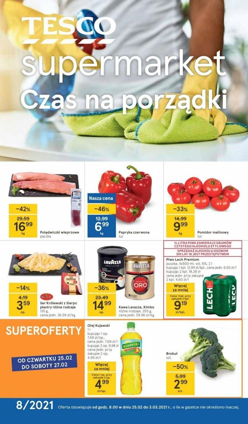 Gazetka promocyjna Tesco Supermarket - ważna od 25. 02. 2021 do 03. 03. 2021