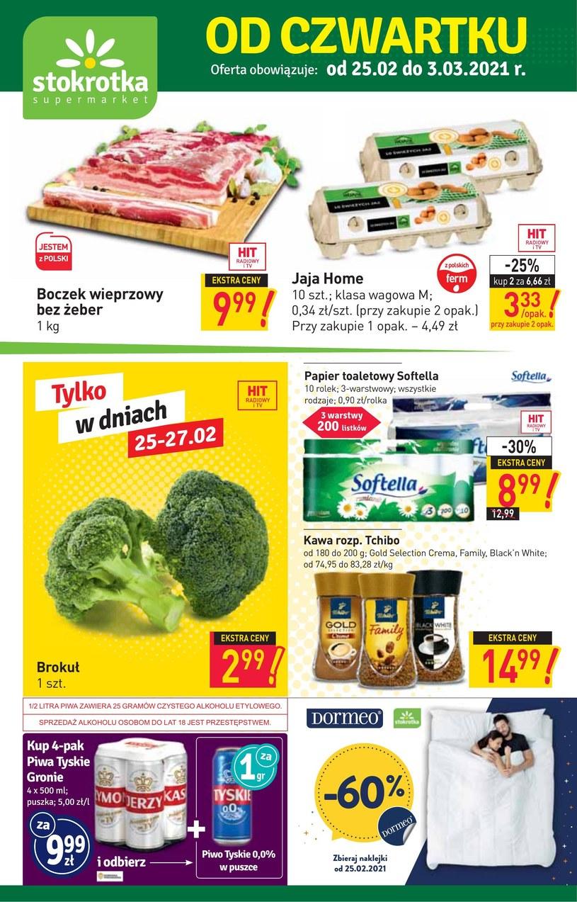 Gazetka promocyjna Stokrotka Supermarket - ważna od 25. 02. 2021 do 03. 03. 2021