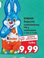 Zając czekoladowy Kinder