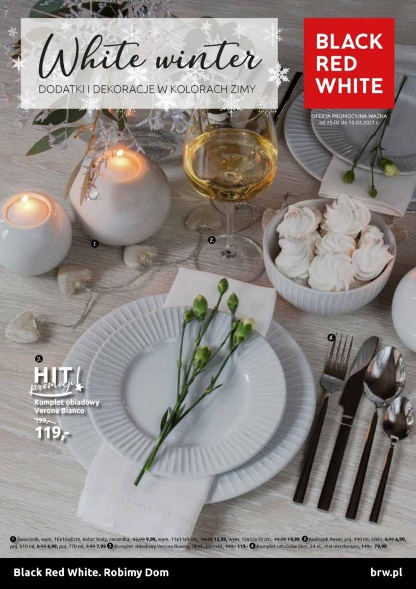 Gazetka promocyjna Black Red White - ważna od 25. 02. 2021 do 12. 03. 2021