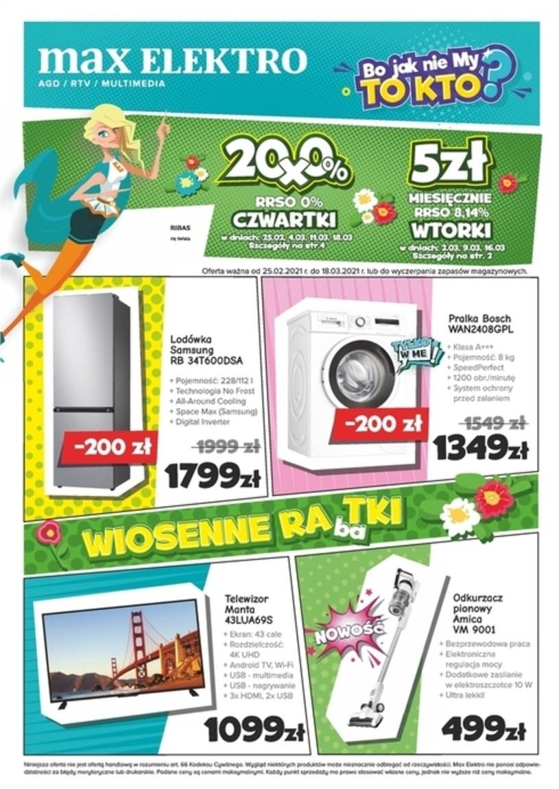 Gazetka promocyjna Max Elektro - ważna od 25. 02. 2021 do 18. 03. 2021