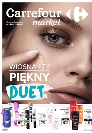 Gazetka promocyjna Carrefour Market - Wiosenny duet piękna Carrefour Market!