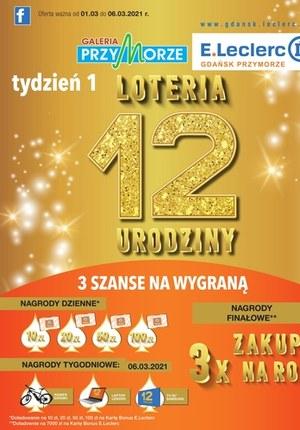 Gazetka promocyjna E.Leclerc - 12 urodziny E.Leclerc Gdańsk
