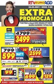 Extra promocja w wybranych sklepach RTV EURO AGD