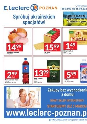 Gazetka promocyjna E.Leclerc - Ceny dnia w E.Leclerc Poznań
