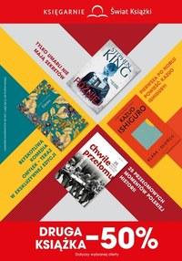 Gazetka promocyjna Księgarnie Świat Książki - Druga ksiażka -50% w Świat Książki! - ważna do 13-04-2021