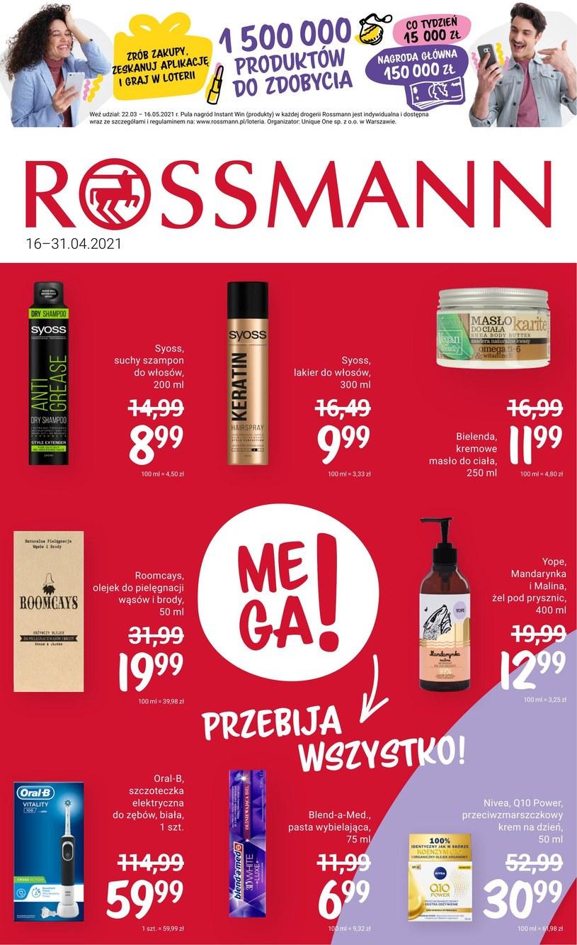 Gazetka promocyjna Rossmann - wygasła 2 dni temu