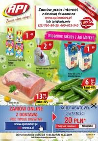 Gazetka promocyjna Api Market - Wiosenne zakupy w Api Market! - ważna do 23-03-2021