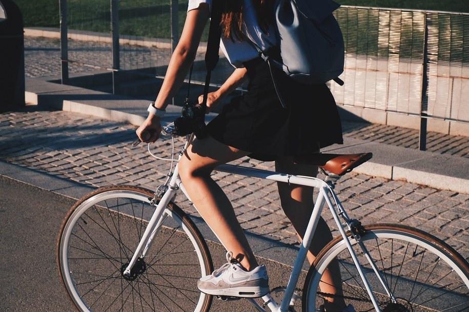 Rower miejski na wiosnę.