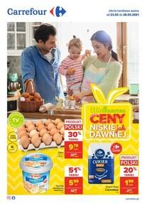 Gazetka promocyjna Carrefour - Wielanocne ceny w Carrefour - ważna do 28-03-2021