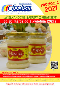 Gazetka promocyjna PSS Społem Gniezno - Zakupy z gratisem w PSS Gniezno - ważna do 03-04-2021