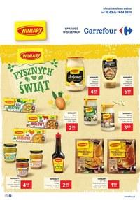 Gazetka promocyjna Carrefour - Pysznych świąt życzy Carrefour   - ważna do 11-04-2021