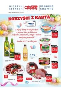 Gazetka promocyjna Społem Olsztyn - Korzyści z kartą w Społem Olsztyn   - ważna do 12-04-2021