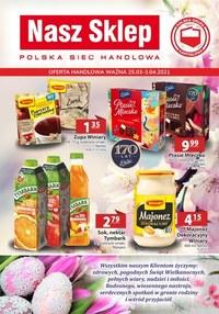 Gazetka promocyjna Nasz Sklep - Nasza Sklep - oferta handlowa - ważna do 03-04-2021