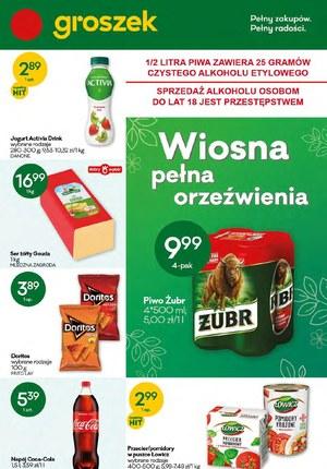 Gazetka promocyjna Groszek  - Wiosna pełna orzeźwienia z Groszkiem