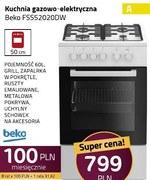 Kuchnia gazowo-elektryczna Beko