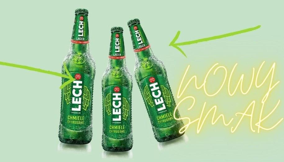 Piwo Lech nowy smak Lech Chmielny Cytrusowy