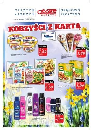 Gazetka promocyjna Społem Olsztyn - Korzyści z kartą Społem Olsztyn