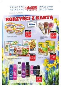 Gazetka promocyjna Społem Olsztyn - Korzyści z kartą Społem Olsztyn - ważna do 25-04-2021