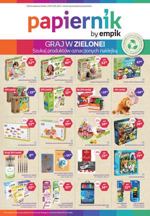 Gazetka promocyjna Papiernik by Empik - Graj w zielone z Papiernikiem