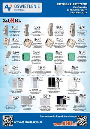 Gazetka promocyjna At - Elektryka  i oświetlenie w At