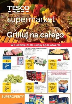 Gazetka promocyjna Tesco Supermarket - Grilluj na całego z Tesco Supermarket