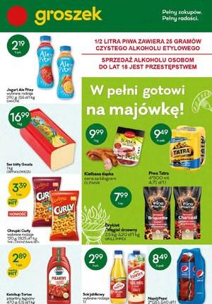 Gazetka promocyjna Groszek  - Gotowi na majówkę z Groszkiem!